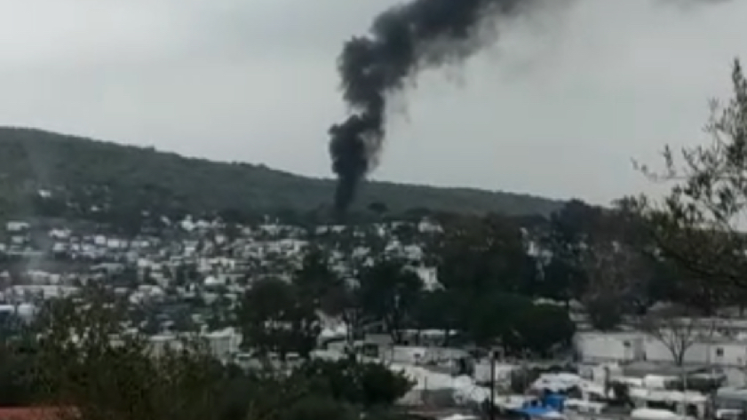 Fire in Moria Camp