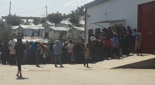 Food Line Camp Moria