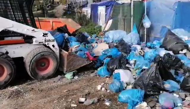 Mountains of Trash. Camp Moria